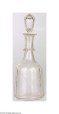 """Political:3D & Other Display (1896-present), FDR Engraved Personal Decanter This ornately decorated decanter isengraved, """"Franklin Delano Roosevelt,"""" and measures appro..."""