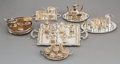 Decorative Arts, Continental, A Thirty-Three Piece Group of Miniature Silver Tablewares, early20th century and later. Marks: STERLING; (various). 6-1...