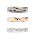 Estate Jewelry:Rings, Diamond, Gold Rings, Frank Gehry for Tiffany & Co.. ... (Total: 3 Items)