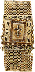 Estate Jewelry:Watches, Swiss Lady's Mother-of-Pearl, Seed Pearl, Enamel, Gold Covered Dial Watch. ...