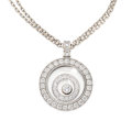 Estate Jewelry:Pendants and Lockets, Diamond, White Gold Pendant-Necklace, Chopard. ...