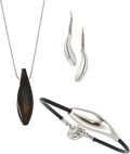 Estate Jewelry:Lots, Ebony, Sterling Silver Jewelry, Frank Gehry for Tiffany & Co.. ... (Total: 3 Items)