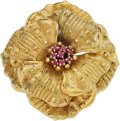 Estate Jewelry:Brooches - Pins, Ruby, Gold Brooch, Tiffany & Co. ...