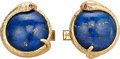 Estate Jewelry:Cufflinks, Multi-Stone, Gold Cuff Links . ...