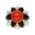 Estate Jewelry:Rings, Coral, Enamel, Gold Ring . ...