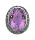 Estate Jewelry:Rings, Amethyst, Colored Diamond, Gold Ring. ...