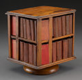 Decorative Arts, British:Other , A Diminutive Revolving Book Table with Thirty-Nine MiniatureShakespeare Volumes, circa 1900. 6-1/2 h x 5-1/4 w x 5-3/8 d in...