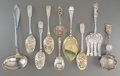 Silver & Vertu:Flatware, Ten American, English, and Danish Flatware Serving Pieces, circa 1810 and later. Marks: (various). 11-3/4 inches long (29.8 ... (Total: 10 Items)