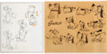animation art:Model Sheet, The Huckleberry Hound Show/The Quick Draw McGraw Show Model Sheets Art Group of 2 (Hanna-Barbera, 1958/59).... (Total: 2 Original Art)