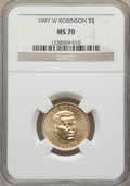 1997-W $5 Jackie Robinson Gold Five Dollar MS70 NGC....(PCGS# 9759)