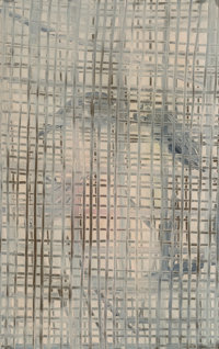 Hunt Slonem (American, b. 1951) Shadow and Parrots (double-sided work) Oil on panel 35