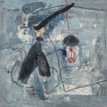 Fine Art - Painting, American, Zhou Brothers (20th Century). Untitled, 1990. Mixed media oncanvas. 48 x 48 inches (121.9 x 121.9 cm). Signed lower lef...
