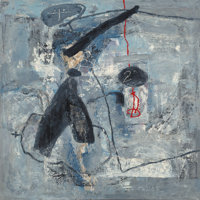 Zhou Brothers (20th Century) Untitled, 1990 Mixed media on canvas 48 x 48 inches (121.9 x 121.9 c