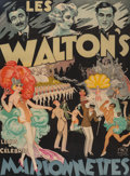 Prints & Multiples, Emile Finot (French). Les Waltons - Marionnettes, circa 1930. Lithograph in colors on paper. 62 x 47 inches (157.5 x 119...