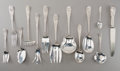 Silver Flatware, American, A Forty Five-Piece Schofield Baltimore Rose Pattern FlatwareGroup, Baltimore, Maryland, designed 1905. Marks: ... (Total: 45Items)