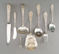 Silver Flatware, American, A Group of Thirty One-Pieces of Stieff Repoussé PatternFlatware, Baltimore, Maryland, designed 1828. Marks: S...(Total: 31 Items)