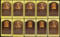 Autographs:Post Cards, Sandy Koufax Signed Hall of Fame Postcard Collection (10). . ...