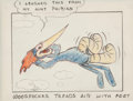 Animation Art:Production Drawing, Woody Woodpecker Early Storyboard Drawing (Walter Lantz, c. 1940s)....