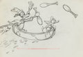 Animation Art:Production Drawing, Moose Hunters Mickey Mouse, Goofy, and Donald Duck AnimationDrawing (Walt Disney, 1937). ...