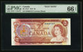 Canadian Currency, BC-47aT $2 1974 Test Note.. ...