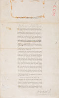Military & Patriotic:Indian Wars, Court Martial: Remarkable Document, Edited and Emended in the Hand of Brig. Gen. George Crook....