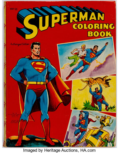 Superman Coloring Book #4687-25 (Saalfield, 1955) | Lot #11582 ...
