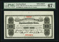 Canadian Currency, St. John's, NF- Newfoundland Government Cash Note 80¢ 1906 Ch. #NF-4fs Face Specimen.. ...