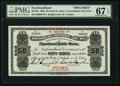 Canadian Currency, St. John's, NF- Newfoundland Government Cash Note 50¢ 1906 Ch. #NF-3fs Face Specimen.. ...