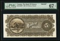 Canadian Currency, Ottawa, ON- Bank of Ottawa $5 Nov. 2, 1880 Ch. # 565-12-02BP BackProof.. ...