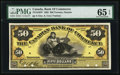 Canadian Currency, Toronto, ON- Canadian Bank of Commerce $50 July 3, 1893 Ch. #75-14-44FP Face Proof.. ...