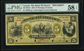 Canadian Currency, Ottawa, ON- Bank of Ottawa $5 Nov. 2, 1880 Ch. # 565-12-02aSSpecimen.. ...