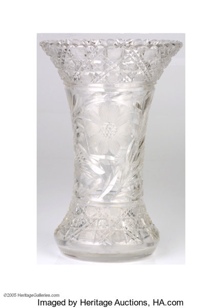Crystal Vase Used By President And Mrs Dwight Eisenhower This Lot