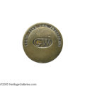 """Political:Inaugural (1789-present), Popular """"GW Long Live The President"""" 1789 Inaugural Button A really beautiful brass example, one of the nicest examples we h..."""