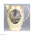 Political:3D & Other Display (pre-1896), Massive George Washington Memorial Liverpool Pitcher Washington's death occasioned a number of Liverpool varieties, includin...