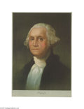 Political:3D & Other Display (pre-1896), Wonderful George Washington Lithograph Circa 1932, color lithograph of George Washington, after the painting by Gilbert Stu...