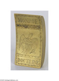 Political:3D & Other Display (pre-1896), Rare Early, Hand-decorated Monroe Doctrine Brass Match Box Exact dating is impossible for this striking piece of folk art, w...