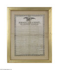 """Political:Textile Display (pre-1896), Large Early 1832-dated Andrew Jackson Broadside on Silk At 18 1/2""""x 25 1/2"""" it is one of the largest of these silk broadsid..."""