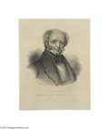 Political:Miscellaneous Political, Rare Matched Pair of Large Van Buren and Johnson Prints Dated 1837,they were probably produced to celebrate the inauguratio...