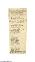 """Political:Small Paper (pre-1896), Scarce 1840 """"Harrison and Liberty"""" William Henry Harrison ElectoralTicket Before the 1850s it was common for these tickets ..."""
