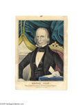 "Political:3D & Other Display (pre-1896), Handsome Pair of Campaign Prints for Henry Clay and Theodore Frelinghuysen 10"" x 14"" hand-colored small folio lithograph pub..."