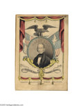 "Political:3D & Other Display (pre-1896), Colorful and Graphic Henry Clay Currier Campaign Print 10"" x 14""hand-colored small folio lithograph published by Nathaniel ..."