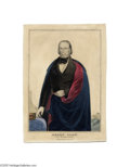"""Political:3D & Other Display (pre-1896), Unusual and Rare Henry Clay Campaign Print by Currier 10"""" x 14"""" hand-colored small folio lithograph published by Nathaniel C..."""