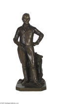 """Political:3D & Other Display (pre-1896), Standing Henry Clay Bronze Figure 16"""" standing bronze figure of the """"Great Compromiser,"""" Henry Clay. Signed on the 6 1/2"""" x..."""