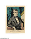 """Political:Small Paper (pre-1896), James Knox Polk Campaign Print by Currier This 1844 small foliohand-colored lithograph by Nathaniel Currier is titled """"Jame..."""