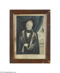 "Political:3D & Other Display (pre-1896), Rare 1844 James G. Birney Third-party Campaign Print by Currier""Nominated by the Liberty Party for Eleventh President of t..."