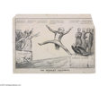 "Political:3D & Other Display (pre-1896), Anti-Van Buren Cass and Butler Cartoon 13"" x 17.5"" lithographed political cartoon, published in 1848 by Peter Smith of New Y..."