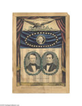 "Political:3D & Other Display (pre-1896), Variation of Pierce and King Grand National Banner Print 10"" x 14"" hand-colored small folio lithograph published by Nathanie..."