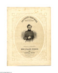"Political:3D & Other Display (pre-1896), Rare and Graphic Franklin Pierce Campaign Sheet Music 10"" x 13"" sheet music published by George Reed in Boston in 1852, titl..."