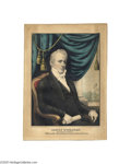 """Political:3D & Other Display (pre-1896), James Buchanan Campaign Print by Kellogg 10"""" x 14"""" hand-colored small folio lithograph published by Kellogg in Hartford in 1..."""