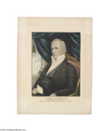 """Political:3D & Other Display (pre-1896), Kellogg Campaign Print for James Buchanan 13"""" x 17"""" hand-colored, small-folio lithograph published by Kellogg in Hartford in..."""